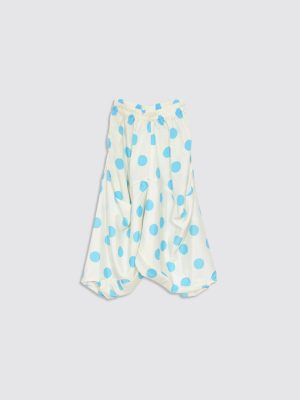 Blue Dots Baloon Pants - Front