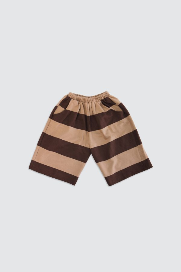 Brown-Stripe-Basic-culotte-Front
