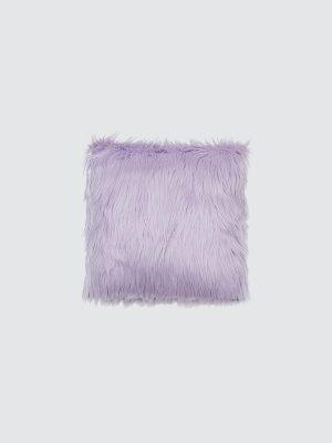Periwinkle-Fur-Cushion