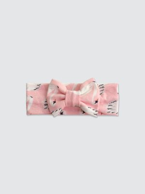 Bow-Headband---Swan