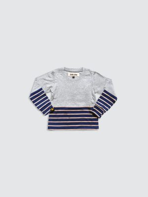 Gray-Mix-Stripes-Navy---Front