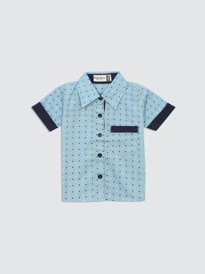 Sandy-Shirt---Blue-Square---Front
