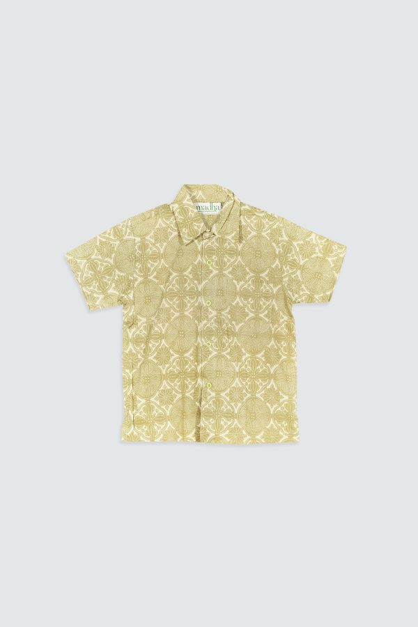 Madha Jlamprang Green Kids Shirt – Front