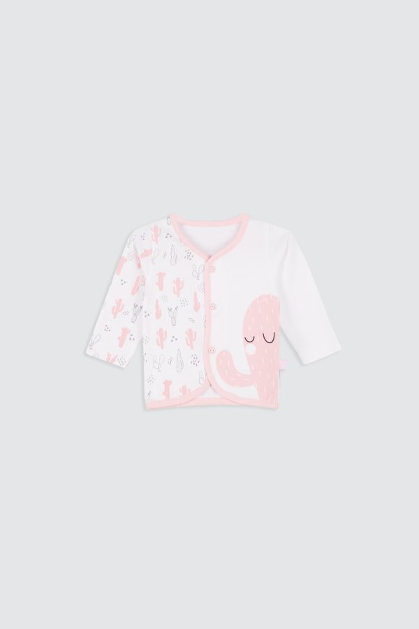 Colorful-Cactus-Long-Sleeve-Shirt-Pink—Front