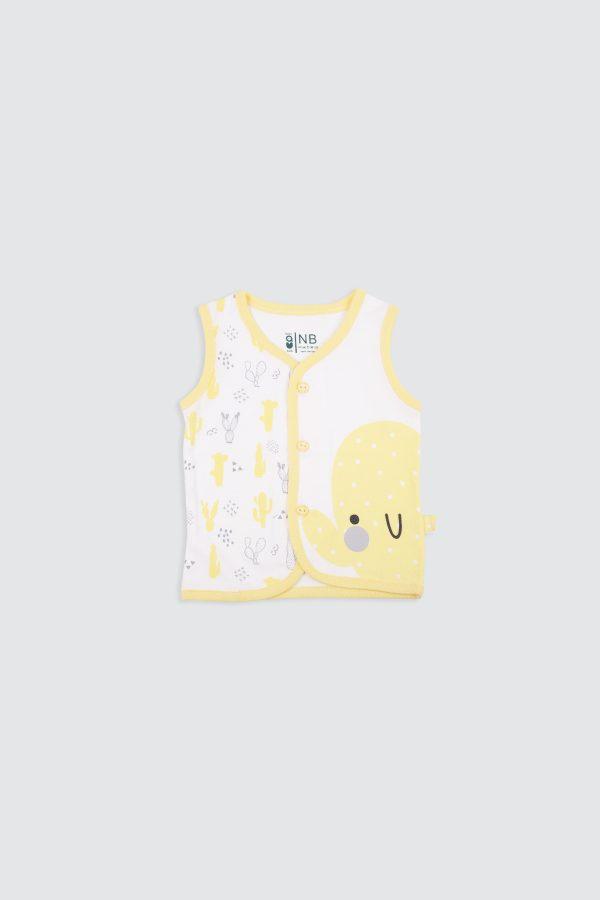 Colorful-Cactus-Sleeveless-Shirt-Yellow—Front