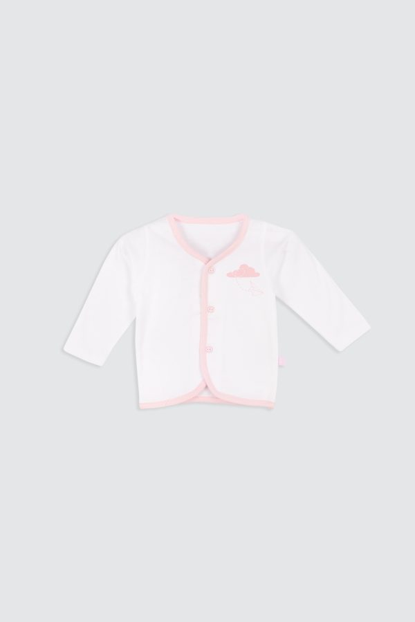Paperplane-Long-Sleeve-Shirt-Pink—Front