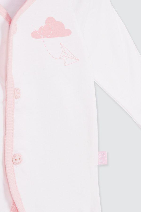 Paperplane-Long-Sleeve-Shirt-Pink—zDetail