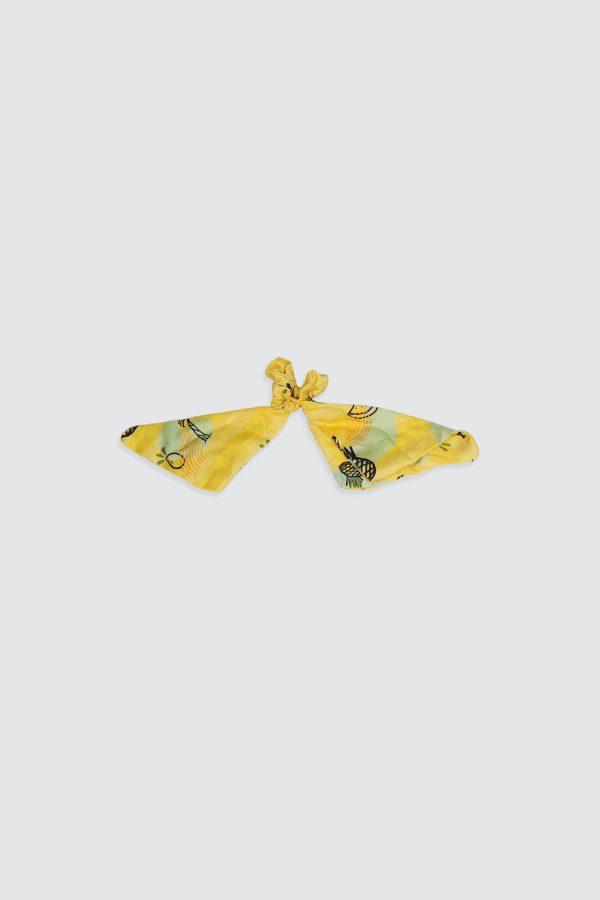 Scrunchies-Yellow-Pineapple