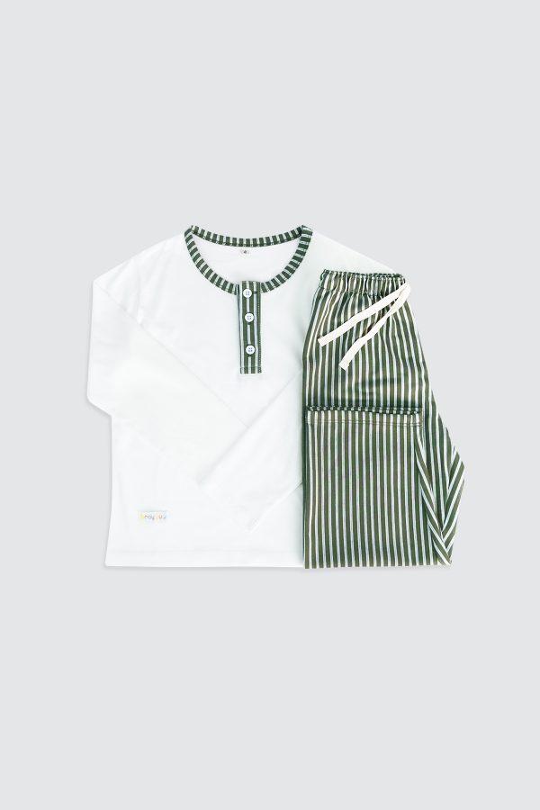Long-Sleeve-Henley-Pjamas-and-Long-Pants-Dusty-Green