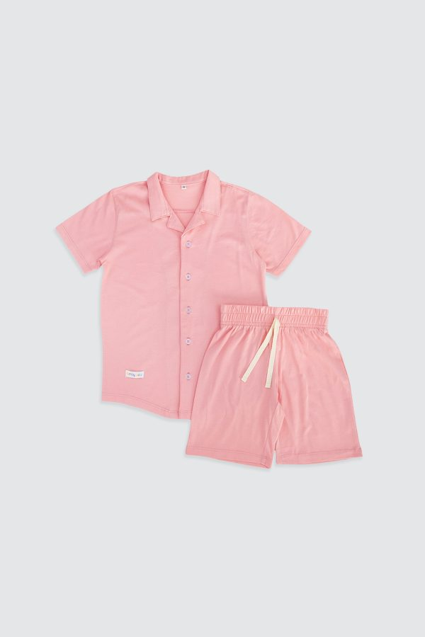 Short-Sleeve-Shirt-and-Short-Pjamas-Light-Pink