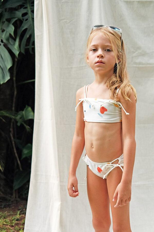 Girls-Double-Strap-Bandeau-Bikini-Abstract-Leaves-Print—zModel