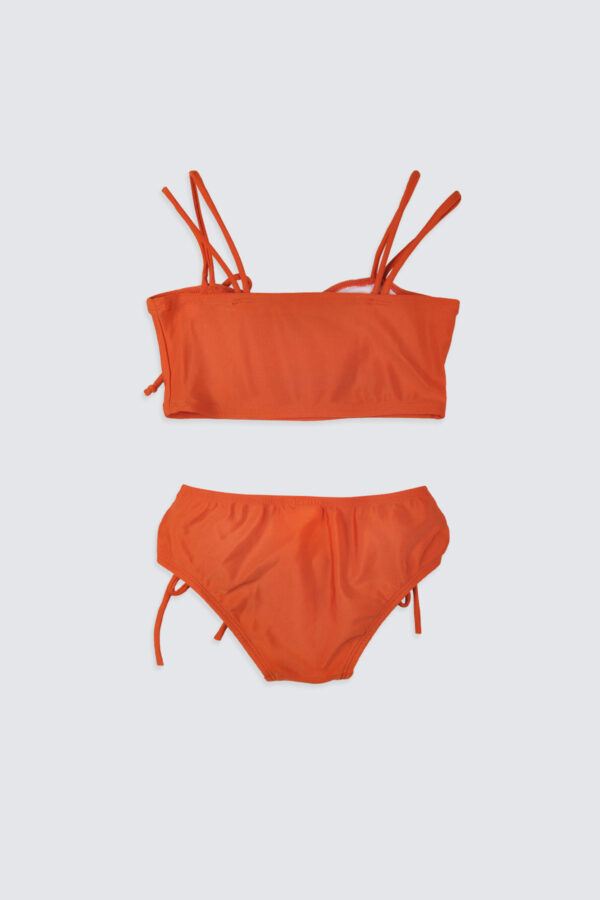 Girls-Double-Strap-Bandeau-Bikini-Rust-2