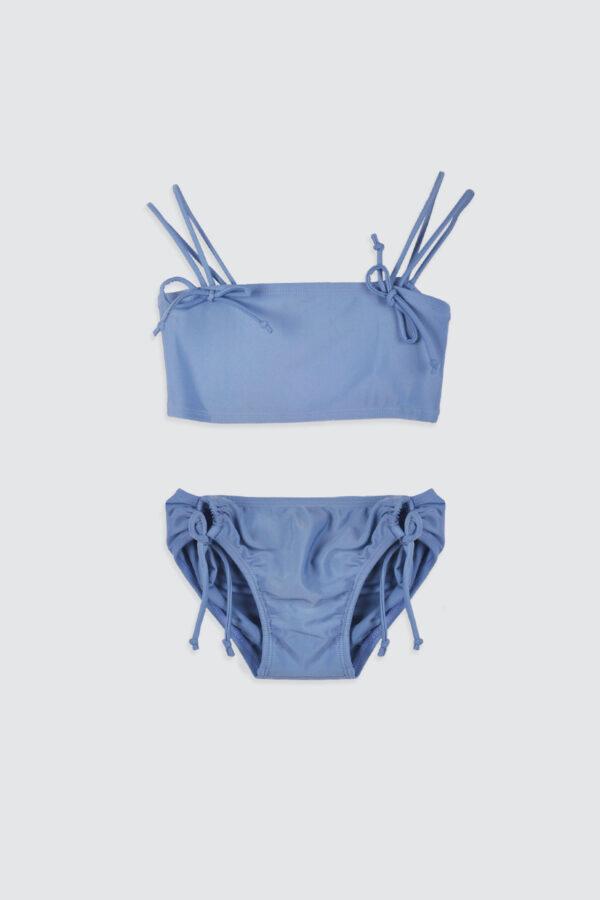 Girls-Double-Strap-Bandeau-Bikini-Steel-Blue-1