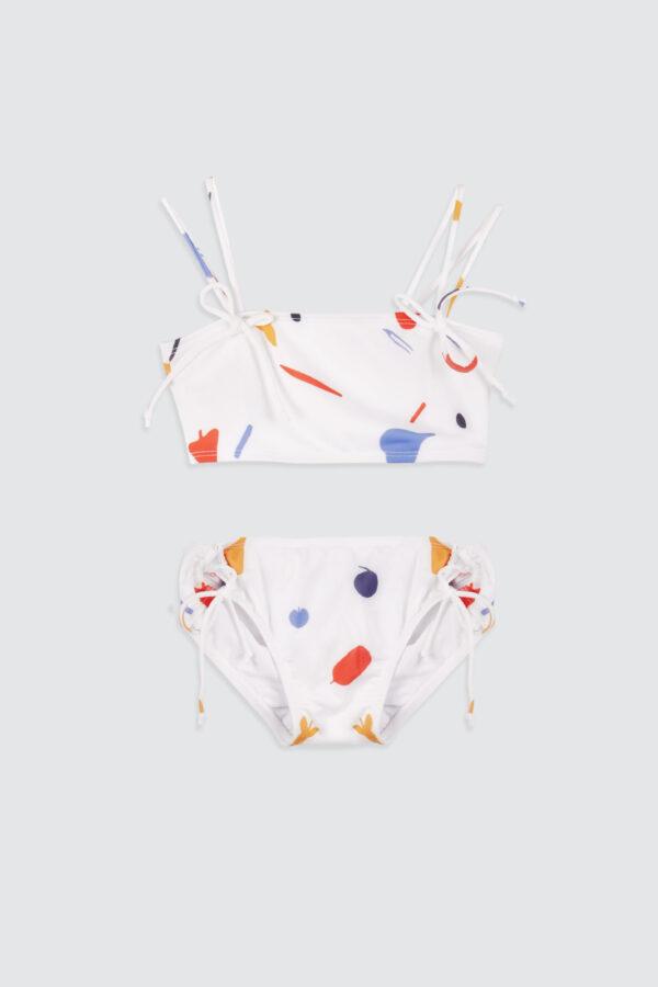 Girls-Double-Strap-Bandeau-Bikini-Summer-Abstract-Leaves-1